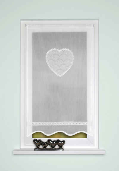 Türvorhang »CORAZON«, HOME WOHNIDEEN, Stangendurchzug (1 Stück), Tür-und Fensterbehang, Batist, bestickt
