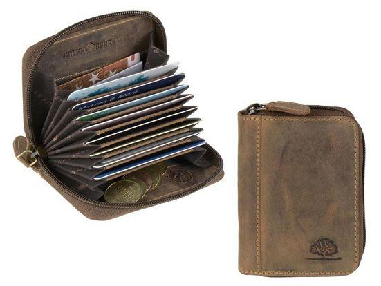 Greenburry Geldbörse »Vintage RFID«, Kartenbörse, Kartenetui, Reißverschluss-Börse, RFID-Schutz