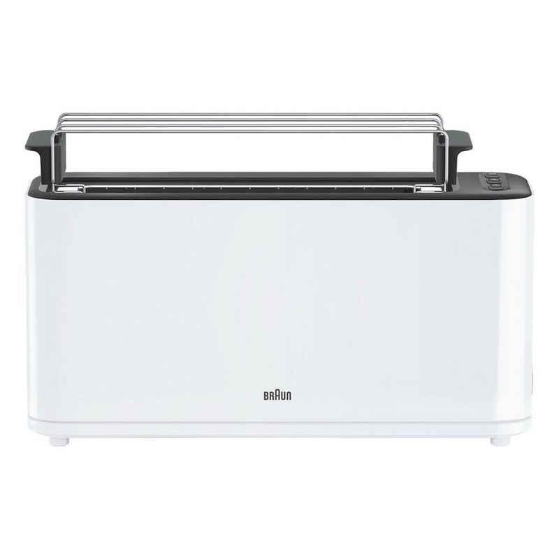 Braun Toaster PurEase HT 3110 WH, mit extrabreiter Toastkammer