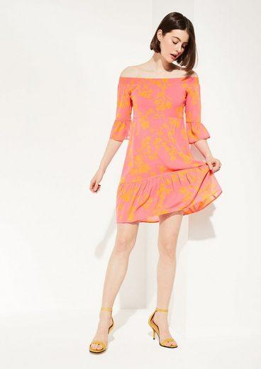 Comma Minikleid »Fließendes Kleid aus Chiffon«