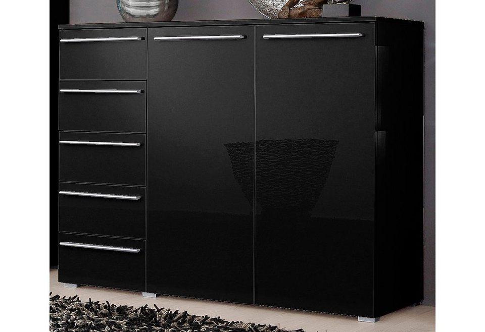 Sideboard, Breite 132 cm in schwarz