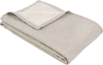 Wolldecke »Baumwoll-Tencel Decke Tennessee«, IBENA, schlicht