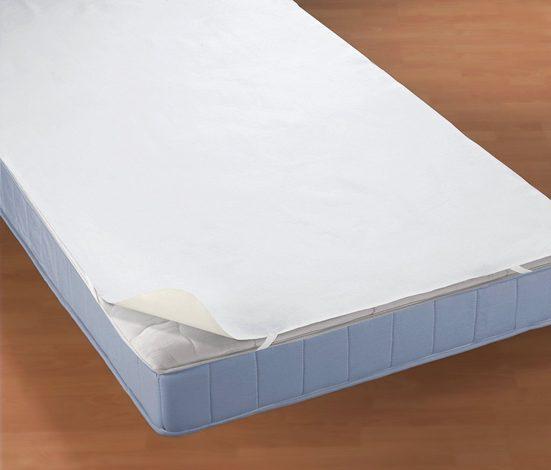 Matratzenauflage »Wasserundurchlässige Molton-Matratzenauflage für Topper« Biberna