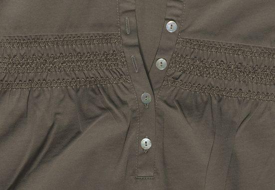 Cheer Rundhalsshirt, mit Smokeinsatz im Brustbereich