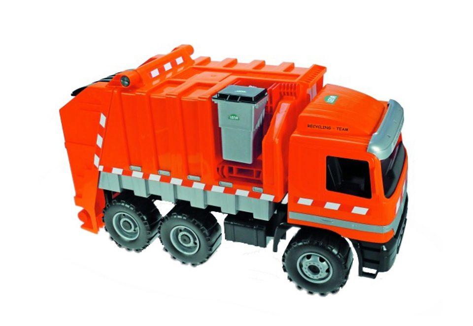 Müllwagen mit großer und kleiner Mülltonne, Lena