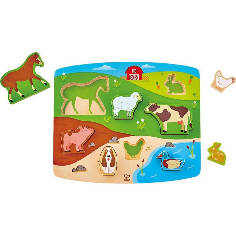Hape Steckpuzzle »Steckpuzzle Bauernhoftiere«, Puzzleteile