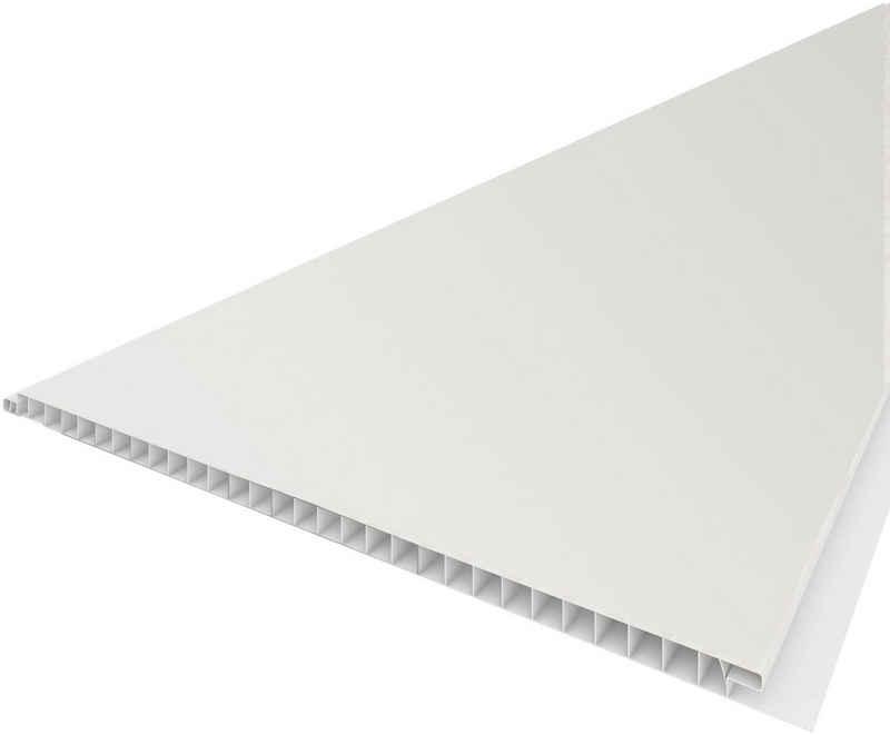 Baukulit VOX Verkleidungspaneel »B25 glatt«, BxL: 260x25 cm, (Set, 5-tlg) weiß