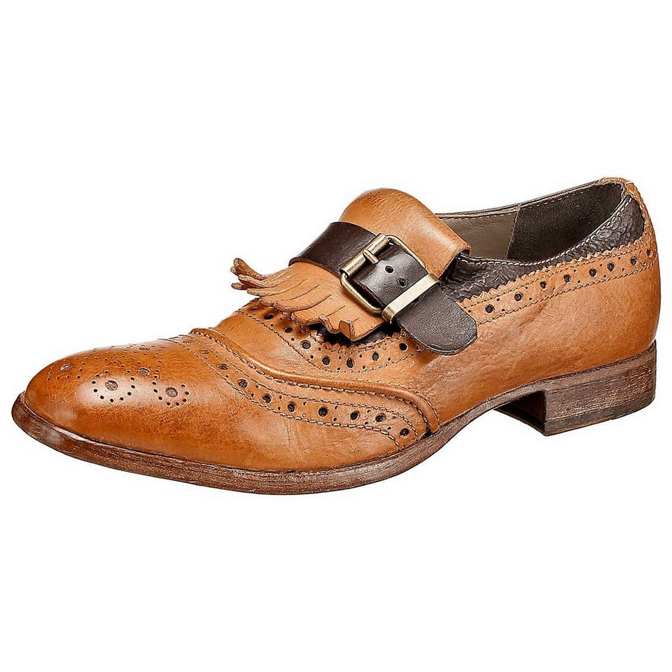 MOMA Business Schuhe in braun-kombi