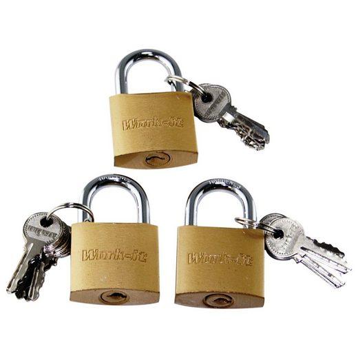 Toko Multifunktionsschloss »3x Schlösser mit 18 Schlüsseln gleichschließend Vorhängeschlösser« (3-tlg)