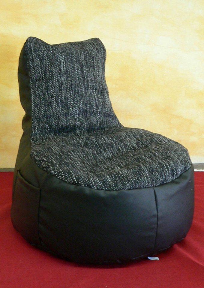 Sitzsack in schwarz/grau