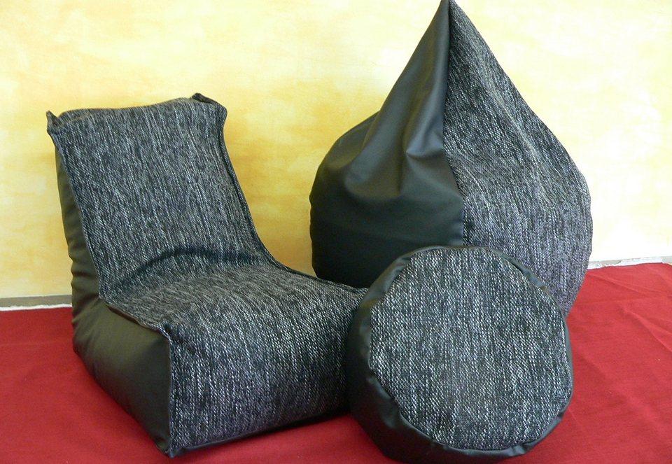 Hocker in schwarz/grau