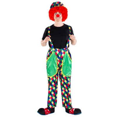 tectake Clown-Kostüm »Herrenkostüm Clown August«