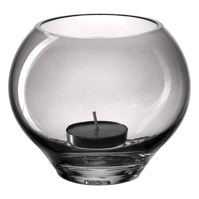 LEONARDO Teelichthalter »Tischlicht MILANO Dunkelgrau 9 cm«