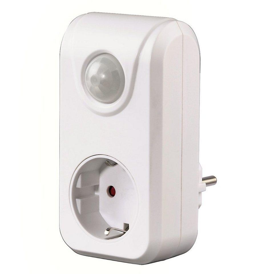Hama PIR-Bewegungsschalter mit Dämmerungssensor in Weiß