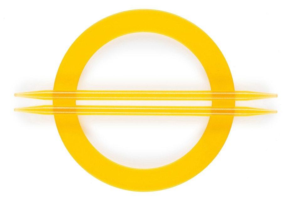 Dekoraffspange, Gerster, »Luana« (2 Stück) in gelb