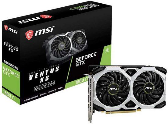 MSI GeForce GTX 1660 Ti Ventus XS 6G OC »TORX Fan 2.0-optimale Kühlleistung mit 2 Lüftern«