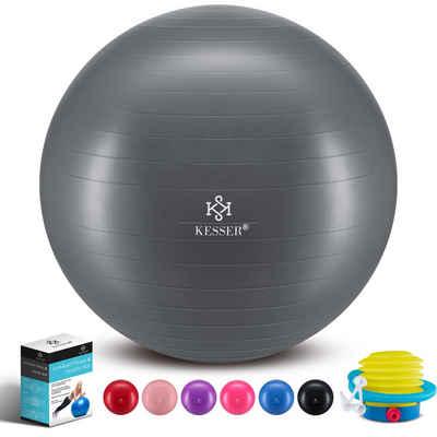KESSER Gymnastikball, Fitness Ball Gymnastik mit Luftpumpe dicker Yogaball BPA-frei Sitzball Anti-Burst