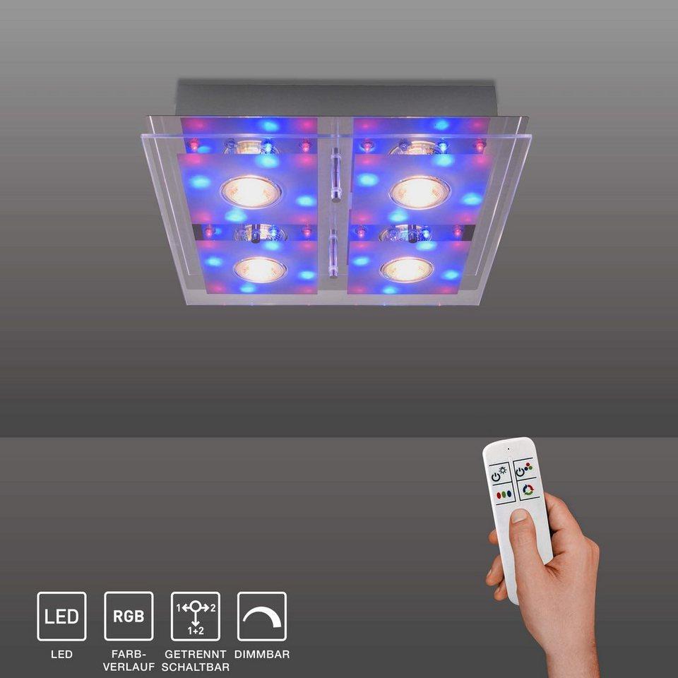 SellTec LED Deckenleuchte »STEFAN«, LED warmweiß, RGB Farbe ...