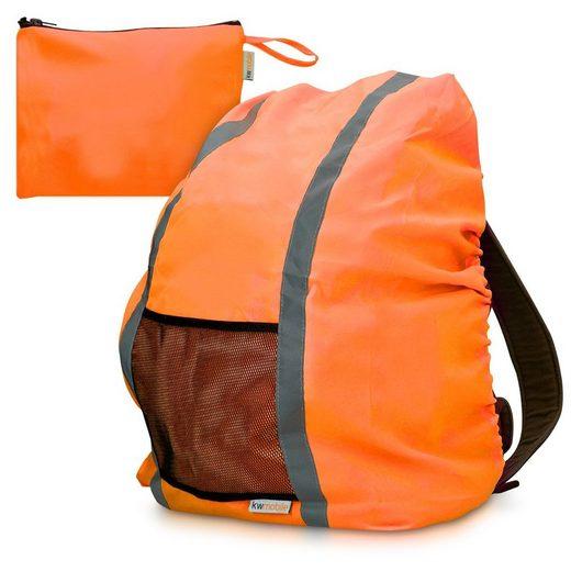kwmobile Rucksack-Regenschutz, Schulranzen Regenhülle - 64x84 cm Schutzhülle für Ranzen reflektierend wasserabweisend - Regenschutzhülle