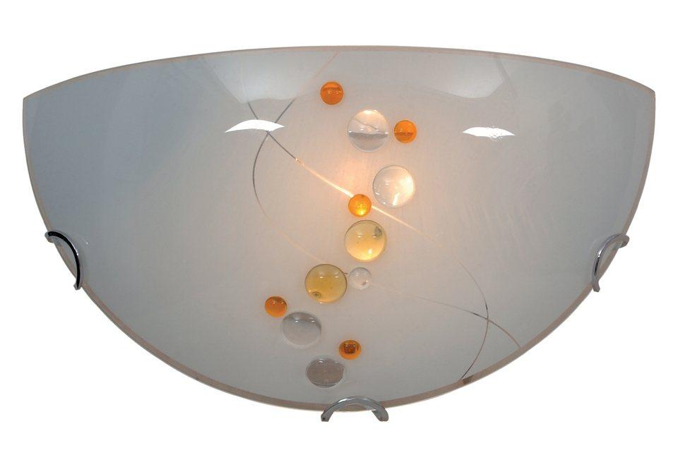 Glaswandleuchte, 1-flg.,Näve in weiß