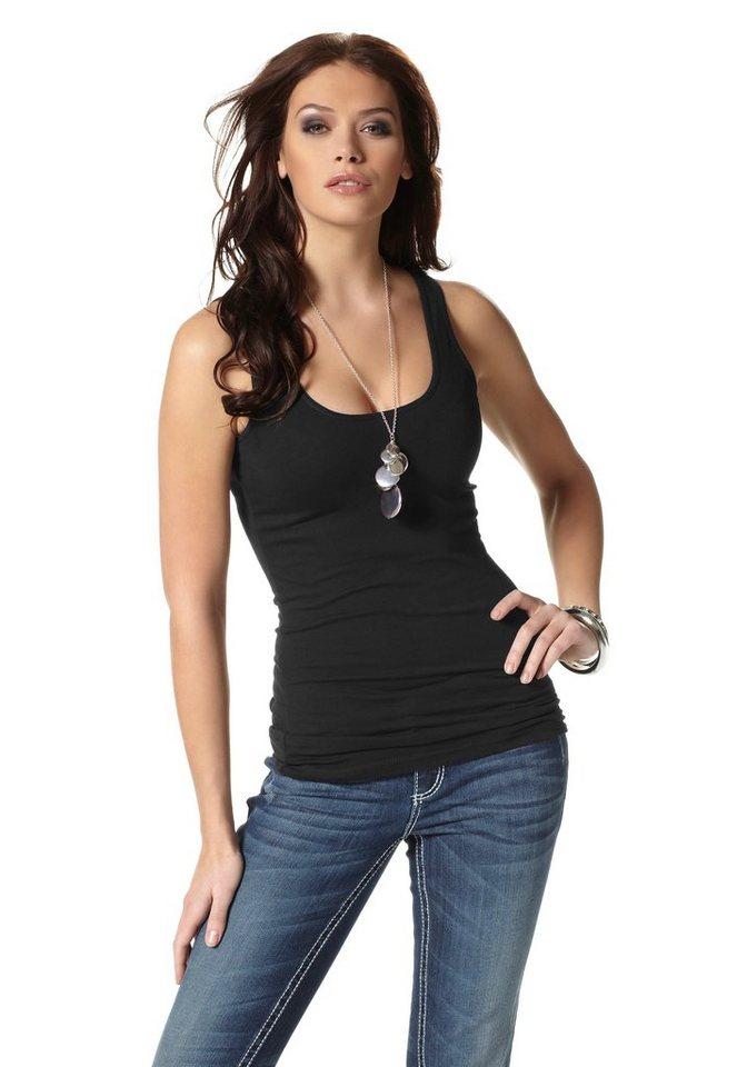 Laura Scott Tanktop Longform in schwarz