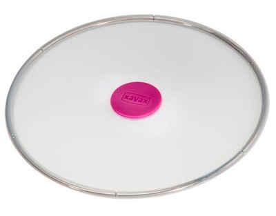 Xavax Frischhaltedeckel »Xavax Frischhalte-Deckel Silikon Rund 28cm Abdeckung Pfanne Topf Glas Schüssel«, Wiederverwendbar, wasser- und luftdicht, spülmaschinengeeignet