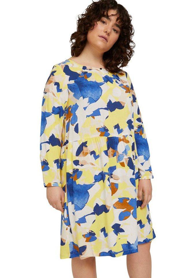 tom tailor my true me -  Blusenkleid im verspielten Muster-Look oder Uni-Farben