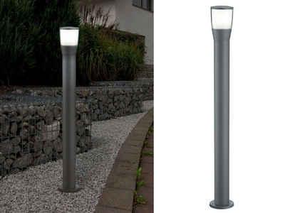 meineWunschleuchte LED Pollerleuchte, 2er Set Wege-Beleuchtung, Anthrazit, Wegeleuchte, Außen-Laterne, moderne Garten-Beleuchtung, Terrasse