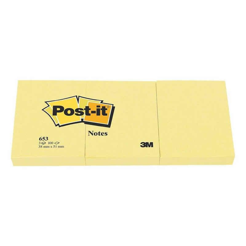 Post-it Notes Haftnotizblock »Notes 653«, 5,1x3,8 cm, wiederverwendbar