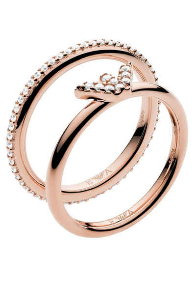 Emporio Armani Ring-Set »EG3462221« (Set, 2-tlg), mit Zirkonia