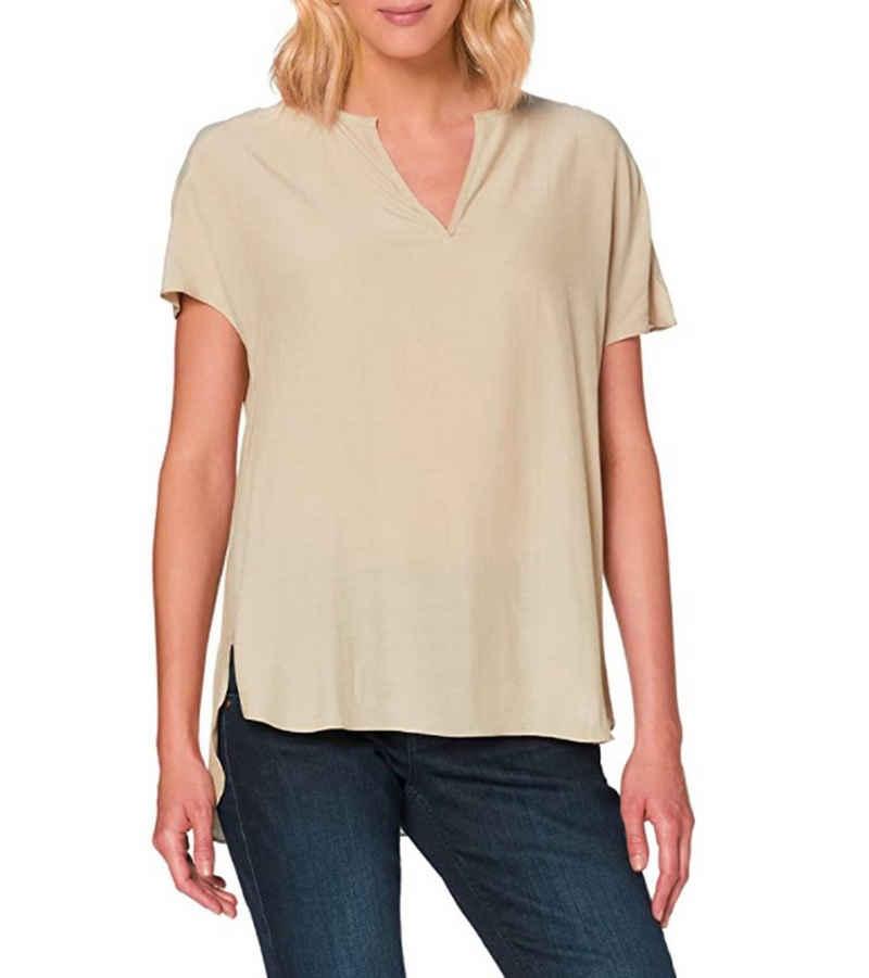 Herrlicher Blusentop »Herrlicher Luzi Blusen-Shirt leichte Damen Sommer-Bluse Freizeit-Bluse mit Split-Neck Beige«