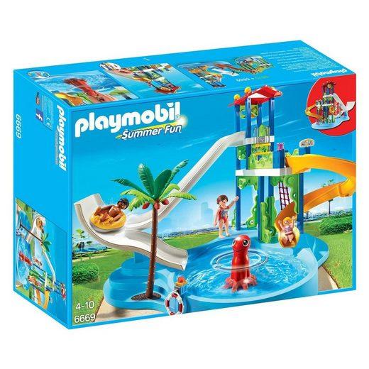 Playmobil® Spielwelt »PLAYMOBIL® 6669 - Summer Fun - Spielset, Aquapark mit Rutschentower«