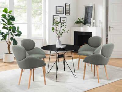 COUCH♥ Esszimmerstuhl »Komfortzone«, Beine aus Massivholz, in 4 Farben erhältlich