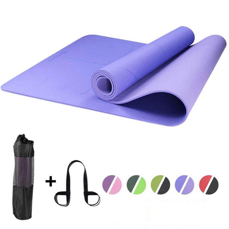 Croch Yogamatte »TPE« (1 Stück), rutschfest aus TPE Super als Sportmatte Fitnessmatte Gymnastikmatte und Joga Matte 183x65cm