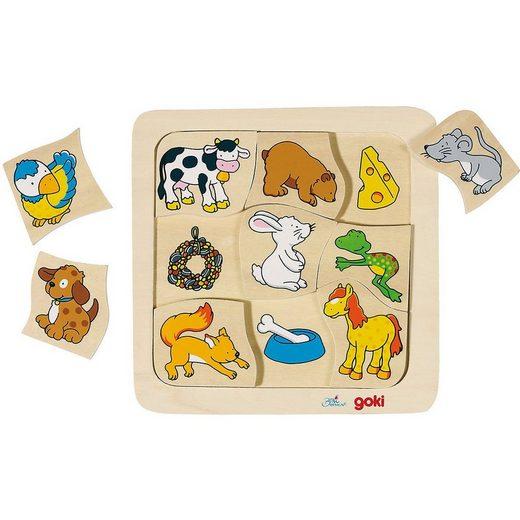 goki Steckpuzzle »Holzpuzzle Wer frisst was?«, Puzzleteile