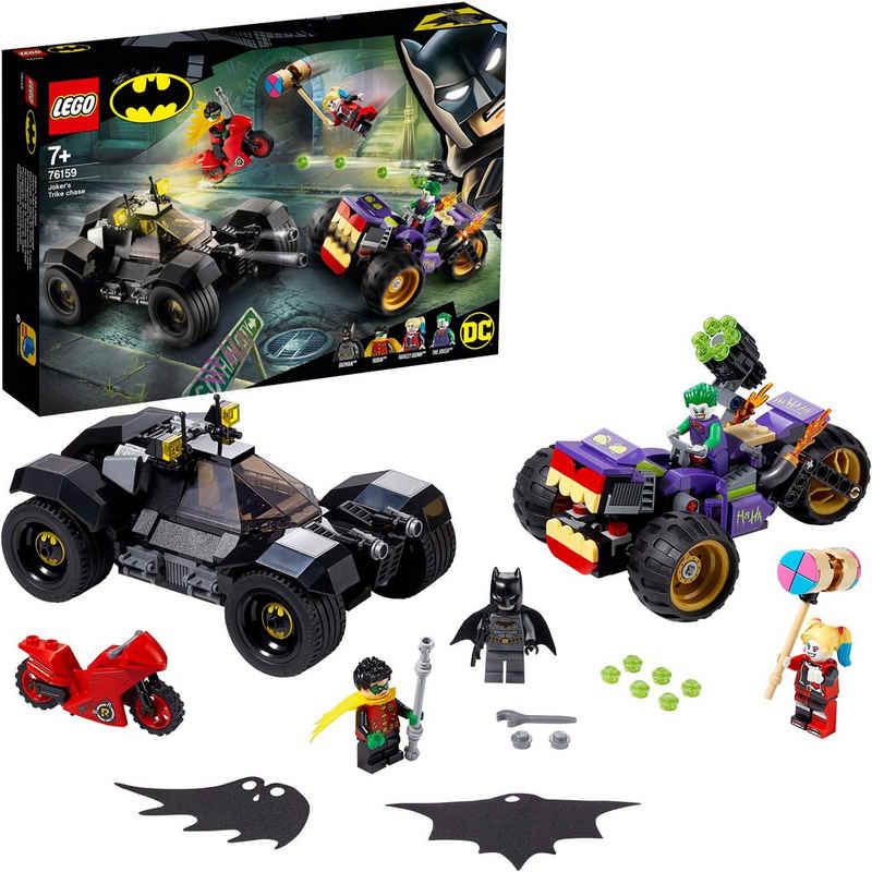 LEGO® Konstruktionsspielsteine »Jokers™ Trike-Verfolgungsjagd (76159), LEGO® DC Comics Super Heroes«, (440 St)