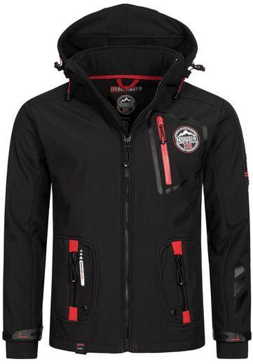 Geographical Norway Softshelljacke »GNTBOOK« Herren sportliche Softshell Jacke mit Kapuze