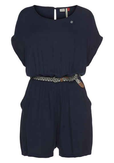 Ragwear Jumpsuit »COOVE« (2-tlg., mit abnehmbarem Gürtel) aus leicht glänzender Viscose