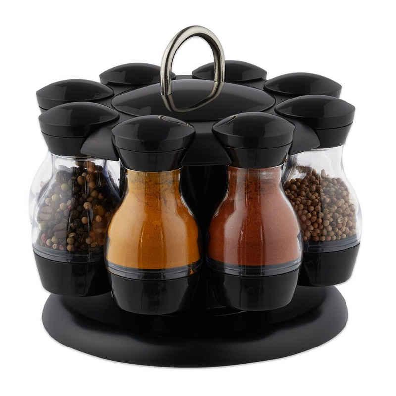 relaxdays Gewürzkarussell »Gewürzkarussell mit 8 Gläsern«