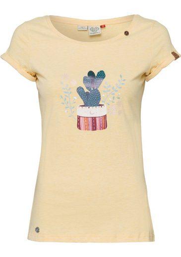 Ragwear T-Shirt »FLORAH« mit Statement-Druck