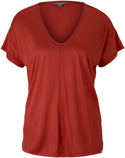 TOM TAILOR mine to five T-Shirt mit Melange Garn