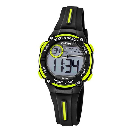 CALYPSO WATCHES Quarzuhr »UK6068/5 Calypso Kinder Uhr K6068/5 Kunststoffband«, (Digitaluhr), Kinder Armbanduhr rund, Kunststoff, PURarmband schwarz, Fashion