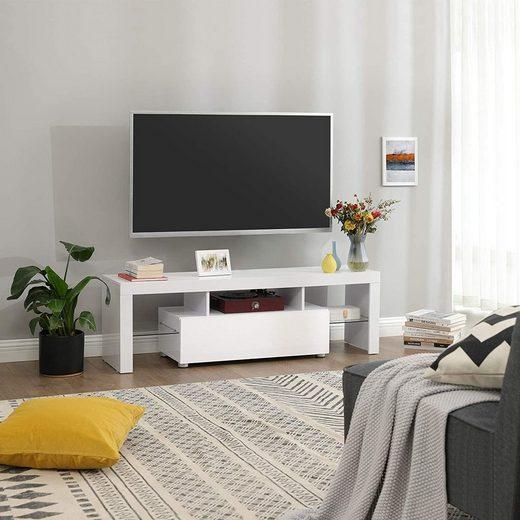 VASAGLE TV-Schrank »LTV14WT« Fernsehtisch bis 60 Zoll, Fernsehschrank, weiß