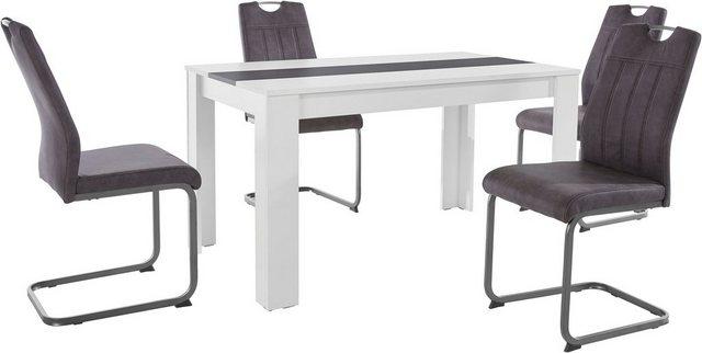 Essgruppen - HELA Essgruppe, (Set, 5 tlg), bestehend aus 4 Stühle 1x Tisch  - Onlineshop OTTO