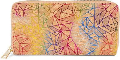 styleBREAKER Geldbörse »Kork Geldbörse mit Prisma Muster«, Kork Geldbörse mit Prisma Muster