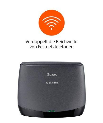 Gigaset »Bundle Gigaset Repeater HX + Family IP-Telefon« Schnurloses DECT-Telefon