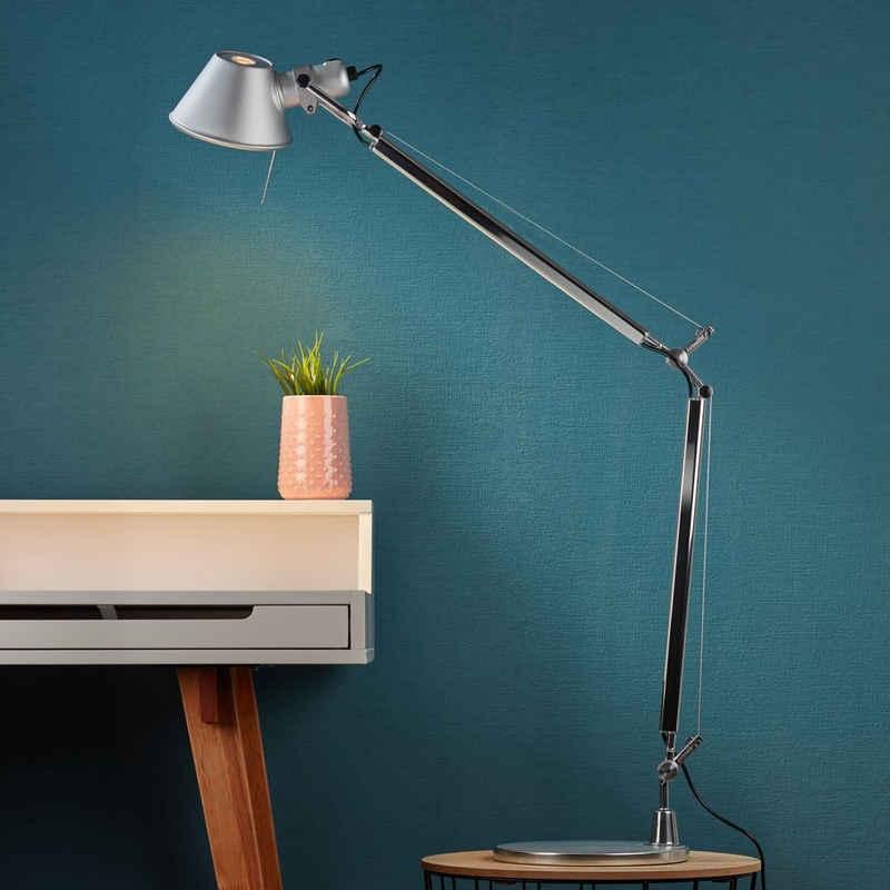 Artemide Tischleuchte »Tolomeo Schreibtischleuchte in Aluminium mit Stran«, Tischleuchte, Nachttischlampe, Tischlampe