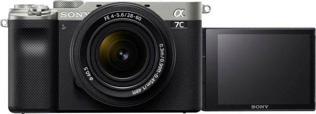 Digitalkameras - Sony »ILCE 7CLS Alpha 7C E Mount mit SEL2860« Vollformat Digitalkamera (FE 28–60 mm F4–5,6, 24,2 MP, FE 28–60 mm F4–5,6, 24,2 MP, 4K Video, 7,5cm (3 Zoll) Touch Display, Echtzeit AF, 5 Achsen Bildstabilisierung, NFC, Bluetooth)  - Onlineshop OTTO