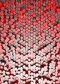 Idealdecor Fototapete »3D Pentagons Rot«, grafisch, (2 St), BlueBack, 2 Bahnen, 183 x 254 cm, Bild 1