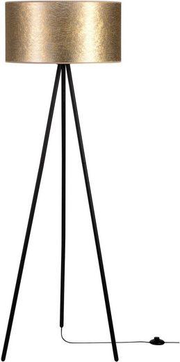 Leonique Stehlampe »DOROTHE«, Hochwertiger Schirm aus Stoff, Basis aus Metall, passende LM E27/exklusive, Made in Europe